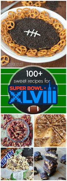100+ Sweet Recipes for the Super Bowl | www.somethingswanky.com