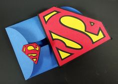 Scrap This, Save That: Superhero Scrapbooker Saves The Day!  Superman card made with the Superman Cricut Cartridge.