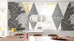 Find out how to create hand-made panel curtains with different patterns made of IKEA fabrics!