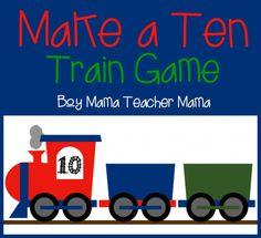 Boy Mama Teacher Mama: Make a Ten Train Game {After School Linky}
