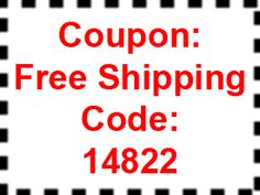 FREE Shipping Coupon Through midnight EDT, Monday, August 25th.