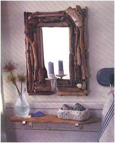 Accesorios al natural Ideas para realizar marcos y espejos