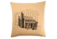 Cabin  Linen/Cotton Pillow