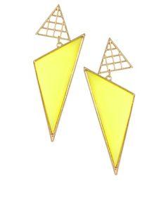 ASOS triangle grid drop earrings