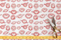 Owl Party Fabric On