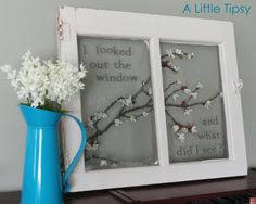 Another idea for painting old windows.