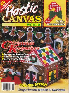 Plastic Canvas World Pattern Magazine Christmas by disliltreasures, $8.00
