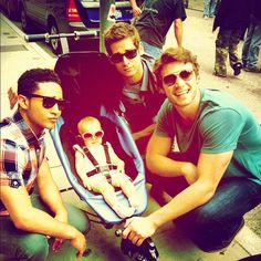Tucker , Uncle Danny & Ben with the Baby from Baby Daddy love this show! :)