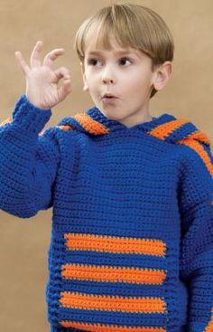 Kids sports crochet hoodie