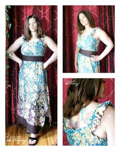 Ricochet and Away!: My second garment, a maxi dress just for me! maxi dresses, sew stuff, dress tutorials, sew tutori, diy paternless, maxis, paternless maxi, sewing tutorials, dress sew