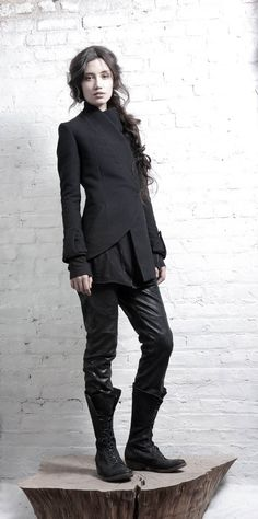 jacket, boot, fashion, black outfits, cloth, style, inaisc, coat, fall 2011