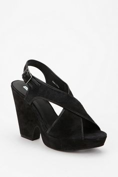 Kimchi Blue Suede Split Wedge  #UrbanOutfitters PERFECT