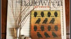 Dollar Store Halloween Art