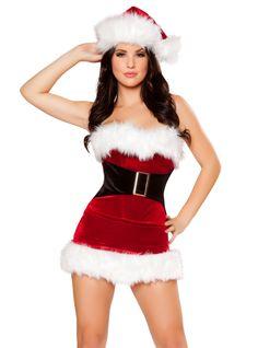 Mistletoe Cutie Santa Costume -  #christmas #santa #sexy #sexysanta #noel #xmas #party #whitechristmas #snow #fancydress #costume #fancydresscostume #sparklingstrawberry