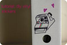 DIY vinyl stickers with sharpies.