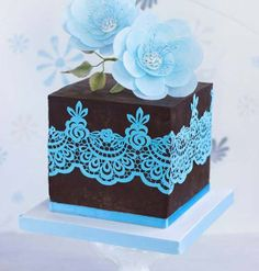 Baby Blue Lace Little Cake