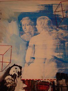 Robert Rauschenberg ~ Tracer (detail), 1963 (oil, silkscreen)
