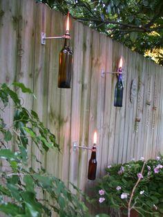 Wine Bottle Tiki Torch!!!