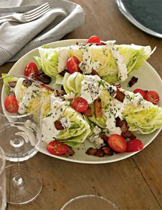 Katie Lee, iceberg wedge and homemade blue cheese dressing
