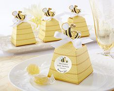 """Sweet as Can Bee!"" Mom and Baby Beehive Favor Box : hotref.com"