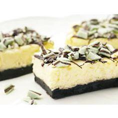 Chocolate Mint Cheesecake Bars Allrecipes.com