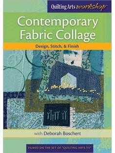 Contemporary Fabric Collage: Design, Stitch,  Finish DVD - Interweave