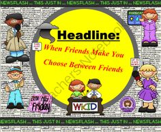 When Friends Make You Choose: Conflict or Bullying SMARTboard lesson from Little Miss Friday on TeachersNotebook.com -  (18 pages)  - Get out of the middle with this lesson that empowers students with conflict resolution skills.