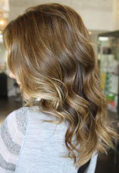 Wavy hair.