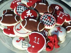 Alabama football cookies :)