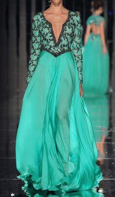 abed mahfouz, fashion dresses, turquoise, formal dress, colors, evening gowns, winter collection, abe mahfouz, abedmahfouz