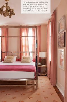 A pretty pink bedroom
