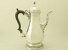 Sterling Silver Coffee Pot by William Grundy - Antique George II