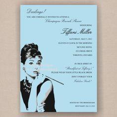Breakfast at Tiffany's Bridal Shower, Print it Yourself DIY Invitation