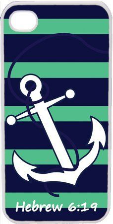Navy Blue and Teal Green Anchor Bible Verse Hebrew 6:19 iPhone 4 4S Case Cover by LGU, http://www.amazon.com/dp/B00B3W98BG/ref=cm_sw_r_pi_dp_6nQHrb08Q6V8B
