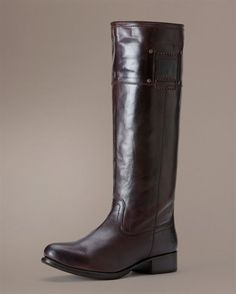 $348 Frye Amelia Logo - Chocolate  My Favorite Boot!