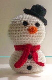 2000 Free Amigurumi Patterns: Free snowman crochet pattern