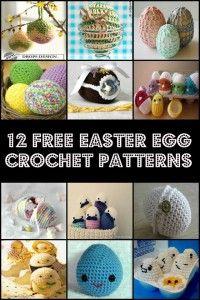 Crochet 12 Free Easter Egg Crochet Patterns