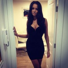 Hot girl in sexy dress
