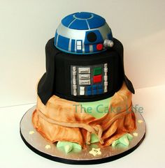R2D2, Vader, Yoda Cake