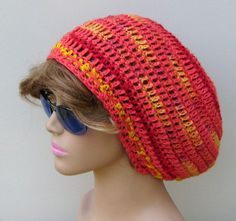 Soy hemp wool Dread Slouchy Beanie Hippie Tam by PurpleSageDesignz, $ 23.00