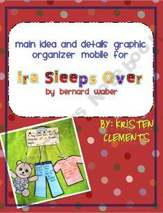 Ira Sleeps Over Graphic Organizer Mobile
