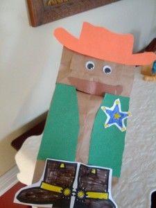 Paper Bag Cowboy puppet