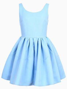 Plain blue dress cheap