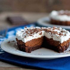 French silk brownie pie