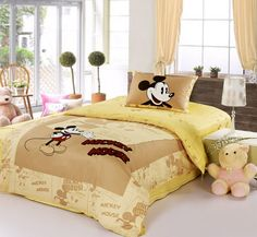 Mickey Mouse Yellow Disney Bedding Sets