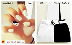 Yin Yang your Nails & then Bag It @ http://www.haveheartdaily.net/fashion-bags.html