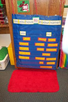 great use of a pocket chart when teaching letters