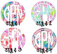 Lilly pulitzer monograms!!