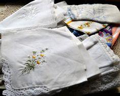 Vintage handkerchief tutorial ideas