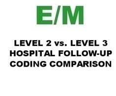 CPT 99232 vs 99233 hospital subsequent care coding comparison lecture. practic manag, work stuff